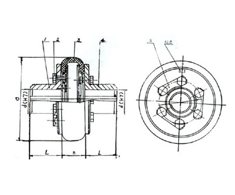 HL型弹性柱销联轴器-亚博yabo官网联轴器